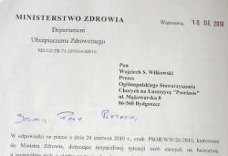 Odpowiedź Minister Zdrowia na Listo Otwarty